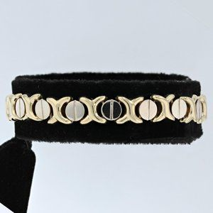 "Jewelry - 14K Two-Tone Gold ""Cartier Style"" Bracelet"